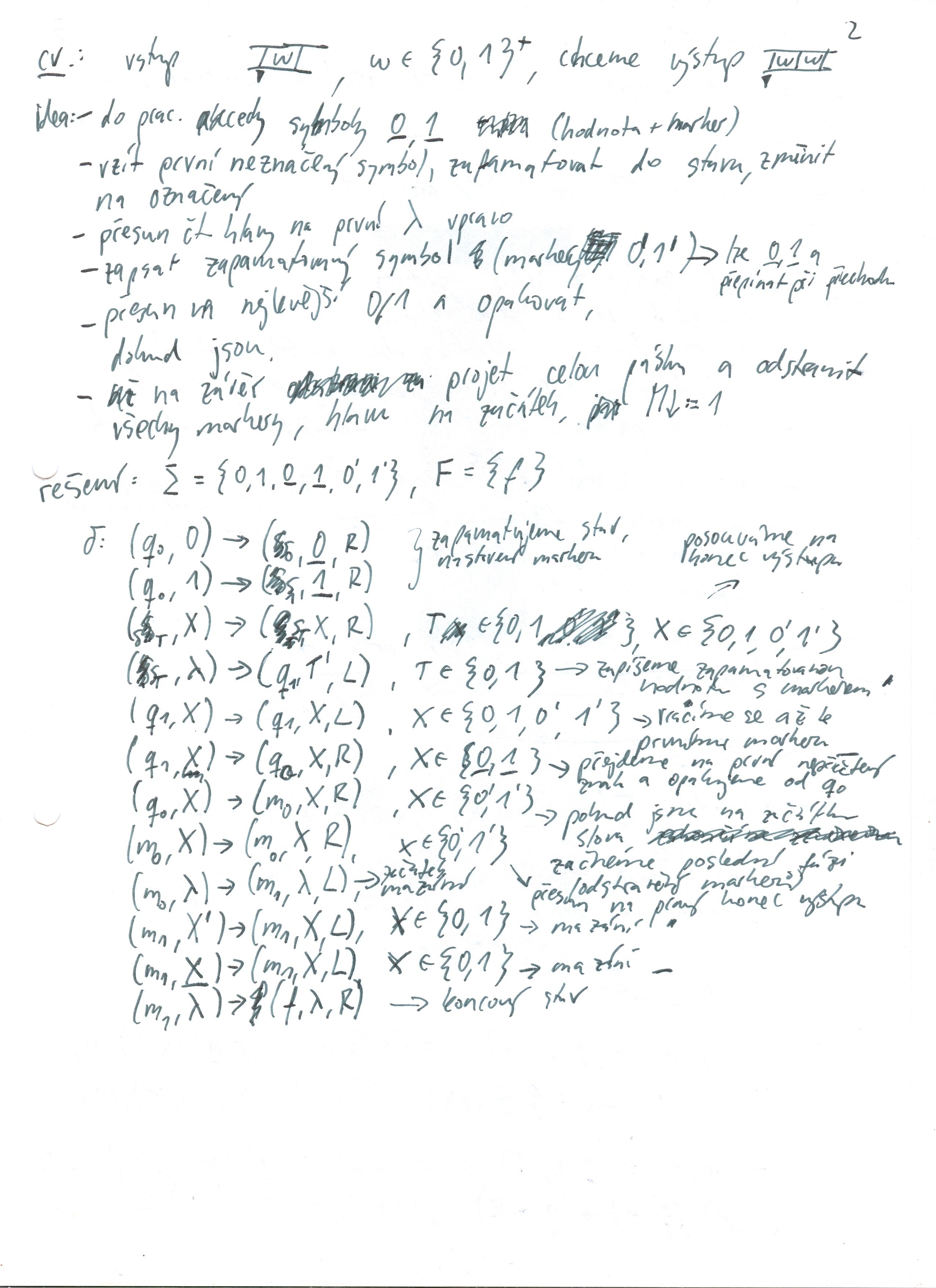 Základy složitosti a vyčíslitelnosti – výpisky ze cvičení