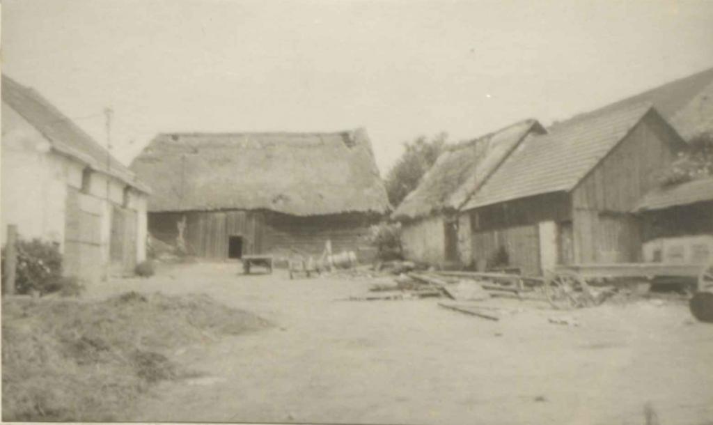 Pohled na zbytky gruntu v Sedlci č. 4, kde stála první kolébka rodu. Stodola, která existovala do roku 1962, byla vystavěna po třicetileté válce