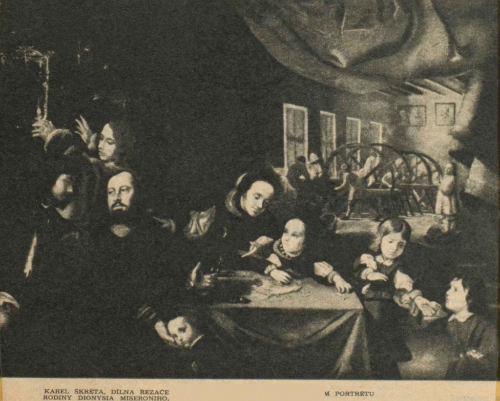 Dítě v pravém rohu dole je pozdější majitel hradu Krašova Norbert Miseroni, vrah kováře Václava Prusíka z Bílova